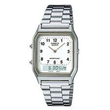 Casio AQ-230A-7B White Men's Stainless Steel Digital Analog Alarm Watch