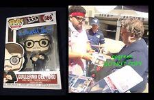 Guillermo Del Toro signed funko pop vinyl figure photo proof