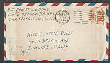 DATE 1944 COVER UC6 RE-CUT DIE (RE-ENTRY) UPSS #AM-24a CATS $100.00 WW2 SEE INFO