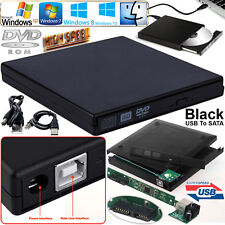 Laptop CD DVD Combo RW Rom Drive External USB to SATA Case Cover Caddy Enclosure