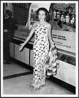 Leslie Caron 1960s Original Candid Stamped Press Premiere of Is Paris Burning?