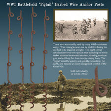 WWI Battlefield 'Pigtail' Barbed Wire Anchor Post: Single