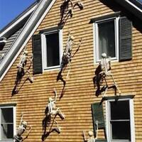 ular Halloween Props Luminous Human Skeleton Hanging Decoration Outdoor  Fast