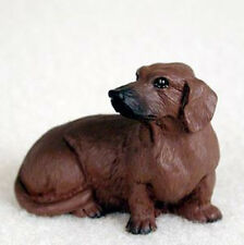 DACHSHUND (RED) TINY ONES DOG Figurine Statue Pet Lovers Resin Doxie
