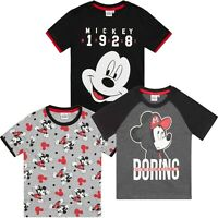 Disney Mickey Mouse Character Boys Short Sleeve Tops Cotton T-Shirt tees 2-8 Yrs