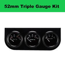 """3in1 52mm 2"""" LCD Truck Car Triple Gauge Oil Pressure, Water, Oil Temp Meter Part"""