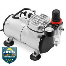 1/5 HP Airbrush Compressor - Portable Quiet Hobby Tankless Oil-less Air Pump