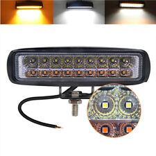 6 Inch Led 36W Work Combo Light Bar White+Yellow for OffRoad 4WD ATV Car Truck