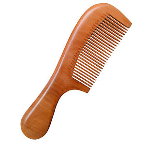 The wooden comb is exquisitely handcrafted, with a special woody scent