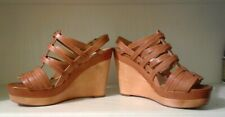 ❤COACH WOMENS LEATHER PLATFORM WEDGE HEEL SHOES/ SANDALS SIZE 7 GORGEOUS! SEXY!