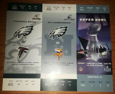 Philadelphia Eagles Replica SUPER BOWL 52 TICKET STUB Playoff Strip Vikings Pats