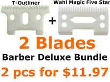 T-outliner Replacement Ceramic Blade Wahl Replacement Blade Barber Deluxe Bundle
