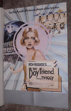 THE BOY FRIEND original 1971 U.K. RARE movie poster TWIGGY/TOMMY TUNE