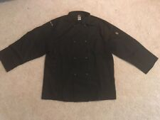 Chef Design Adult Large Solid Black Restaurant Chef Coat Jacket