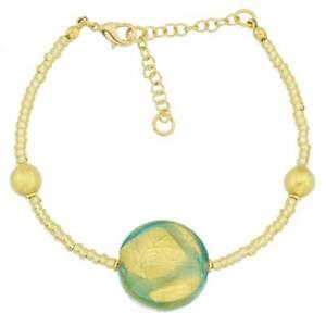 GlassOfVenice Murano Glass Royal Aquamarine Circle Bracelet