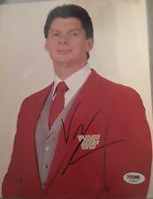 Vince McMahon Rare! signed autographed WWE WWF 8x10 photo JSA Authenticated