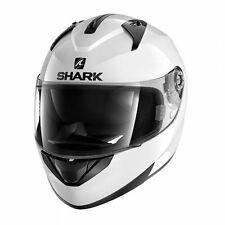 Shark 17 ECE 22.50 Ridill Blank Gloss White Motorcycle Road Helmet