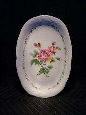 "Vintage Victorian Rose Gibson China Housewares Serving Platter 13""X 9"""