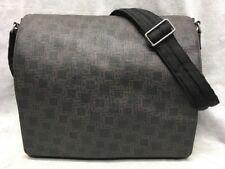 dunhill D-Eight Crossbody Messenger bag PVC & Leather Trim Brown & Black