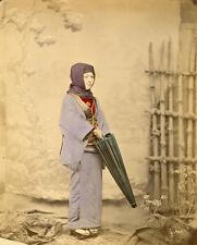 Photo Albuminé Japan Japon Femme Vers 1880