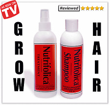 NUTRIFOLICA HAIR LOSS GROWTH TREATMENT SHAMPOO COMBO & no minoxidil side effects