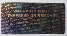 100 Serial Number Security  Hologram Tamper Evident Warranty Labels Stickers