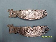 TRIUMPH GAS TANK BADGE EMBLEM SET 3T 5T 6T T100 T110 T120 TR5 TR6 T20 TIGER CUB