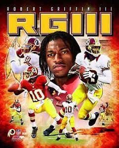 ROBERT GRIFFIN III RG3 Washington Redskins LICENSED RGiii poster 8x10 photo