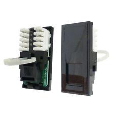 Triax Modular Faceplate RJ11 Modem Insert Module Black 304273
