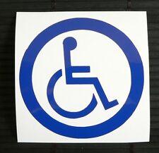 adesivo cartello segnale handicap - decal sticker  sign sedia rotelle