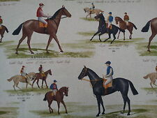 MARSON DERBY HORSE RACING COTTON PRINT  FABRIC