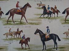 Marson Derby carreras de caballos Tela de algodón impresa