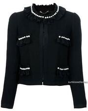 Moschino Pearl Embellished Jacket UK12/ IT44 NAVY RRP1150GBP New Perfect Gift