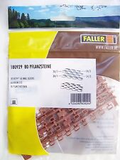NEW HO Faller EIGHTY (80) Retaining Wall Blocks KIT Model Detail 180929