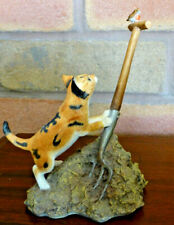 More details for sherratt & simpson 55026 cat / kitten climbing fork , little robin. hand painted