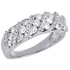 Diamond Wedding Band 10K White Gold Round Cut Ladies Anniversary Ring 1 Ct.