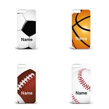 Hard Plastic Phone Case Personalised name Football Basketball Baseball sport L21