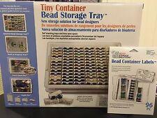Darice 82-Piece Elizabeth Ward Bead Storage Solutions Tiny Container + 96 Labels