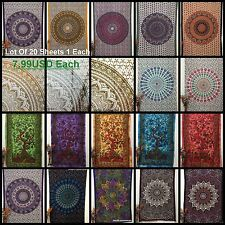 20pc Wholesale Lot Indian Mandala Twin Tapestry Wall Hanging Bed spread Bedding