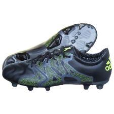 Adidas x 15.2 Fg/Ag pelle 43 1/3 Scarpa da Calcio pelle Neon Chaos Nuovo