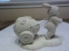 """Snowbunny Department 56 """"Pulling Easter Egg """" Figurine"""