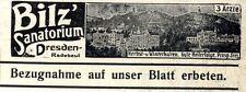 Bilz' Sanatorium Dresden-Radebeul Wiener Annonce 1910