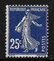 """FRANCE 1907-20 STAMP TIMBRE YVERT N° 140 b """" SEMEUSE 25c BLEU NOIR """" NEUF xx TTB"""