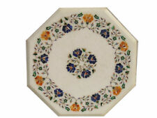 """12"""" Marble Table Top Pietra Dura Marquetry Stone Inlaid Stone"""