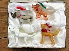 Pier One Imports Park Ave Puppies Glass Figurines Set Of 4