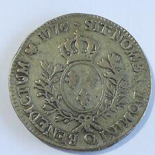 France Louis XVI 1/2 ECU of Branches D 'ol Olivier 1776 Q(305)