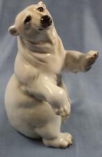 Großer Eisbär Polarbär Hutschenreuther porzellanfigur Porzellan bär bear figur