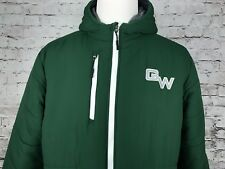 George Washington High School Colorado Mens Green Insulated Jacket Hooded Large