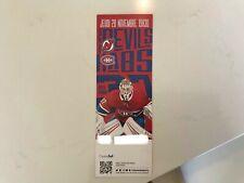 Unused Montreal Canadians tickets featuring Keith Kinkaid november 28