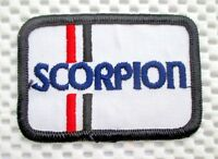 """SCORPION EMBROIDERED SEW ON PATCH ADVERTISING UNIFORM BADGE 3"""" x 2"""""""